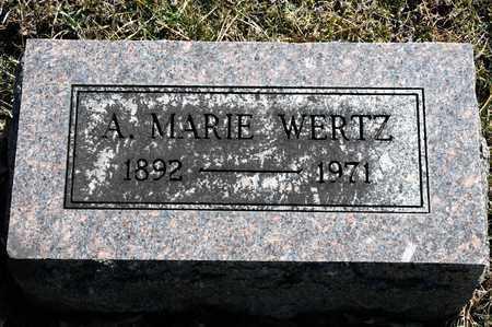 WERTZ, A MARIE - Richland County, Ohio   A MARIE WERTZ - Ohio Gravestone Photos