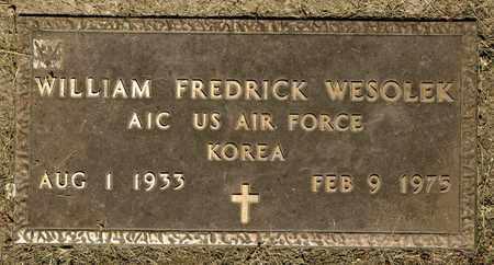 WESOLEK, WILLIAM FREDRICK - Richland County, Ohio | WILLIAM FREDRICK WESOLEK - Ohio Gravestone Photos