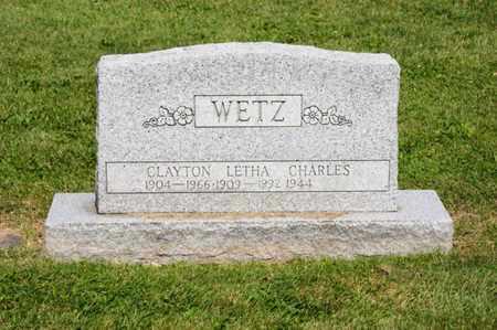 WETZ, CLAYTON - Richland County, Ohio | CLAYTON WETZ - Ohio Gravestone Photos