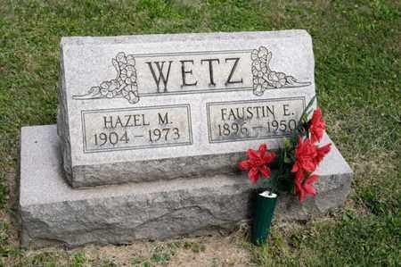 WETZ, FAUSTIN E - Richland County, Ohio | FAUSTIN E WETZ - Ohio Gravestone Photos