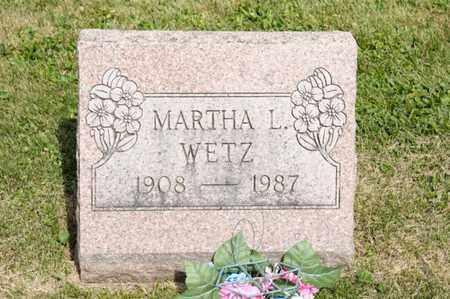 WETZ, MARTHA L - Richland County, Ohio | MARTHA L WETZ - Ohio Gravestone Photos