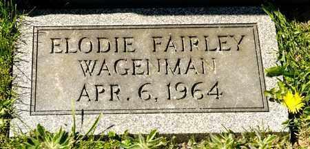 WGENMAN, ELODIE FAIRLEY - Richland County, Ohio | ELODIE FAIRLEY WGENMAN - Ohio Gravestone Photos