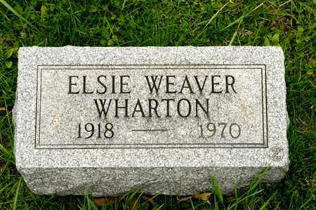 WHARTON, ELSIE - Richland County, Ohio | ELSIE WHARTON - Ohio Gravestone Photos