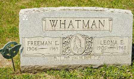 WHATMAN, LEONA E - Richland County, Ohio | LEONA E WHATMAN - Ohio Gravestone Photos