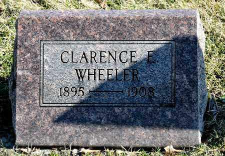 WHEELER, CLARENCE E - Richland County, Ohio | CLARENCE E WHEELER - Ohio Gravestone Photos