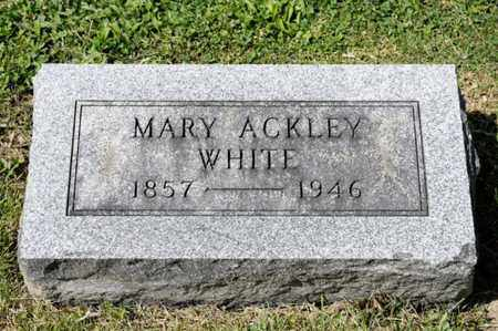 WHITE, MARY - Richland County, Ohio | MARY WHITE - Ohio Gravestone Photos