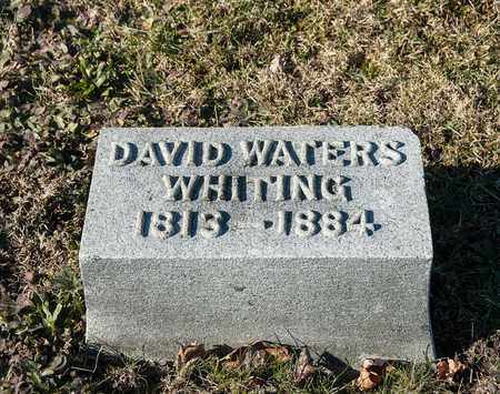 WHITING, DAVID WATERS - Richland County, Ohio | DAVID WATERS WHITING - Ohio Gravestone Photos