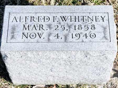 WHITNEY, ALFRED F - Richland County, Ohio | ALFRED F WHITNEY - Ohio Gravestone Photos