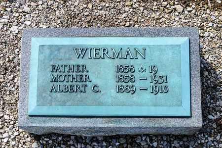 WIERMAN, JOHN ALBERT - Richland County, Ohio | JOHN ALBERT WIERMAN - Ohio Gravestone Photos