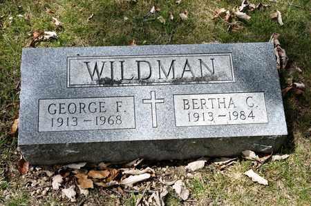 WILDMAN, BERTHA C - Richland County, Ohio | BERTHA C WILDMAN - Ohio Gravestone Photos