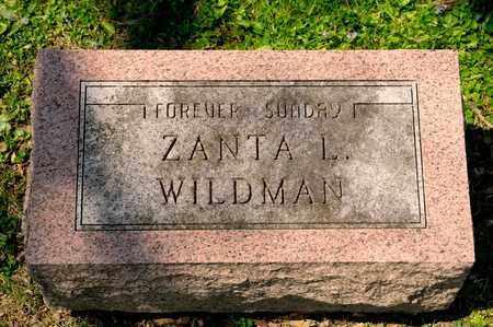 WILDMAN, ZANTA L - Richland County, Ohio | ZANTA L WILDMAN - Ohio Gravestone Photos