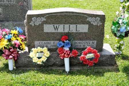 WILL, CLAIRE F - Richland County, Ohio | CLAIRE F WILL - Ohio Gravestone Photos