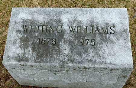 WILLIAMS, WHITING - Richland County, Ohio | WHITING WILLIAMS - Ohio Gravestone Photos