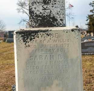 MAIDENS, SARAH R - Richland County, Ohio | SARAH R MAIDENS - Ohio Gravestone Photos