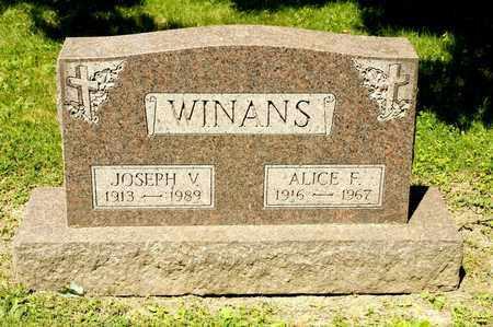 WINANS, JOSEPH V - Richland County, Ohio   JOSEPH V WINANS - Ohio Gravestone Photos