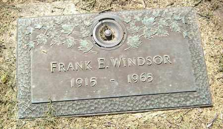 WINDSOR, FRANK E. - Richland County, Ohio | FRANK E. WINDSOR - Ohio Gravestone Photos