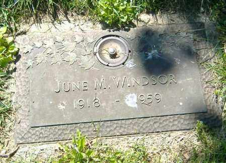 WINDSOR, JUNE MERCEDES - Richland County, Ohio | JUNE MERCEDES WINDSOR - Ohio Gravestone Photos