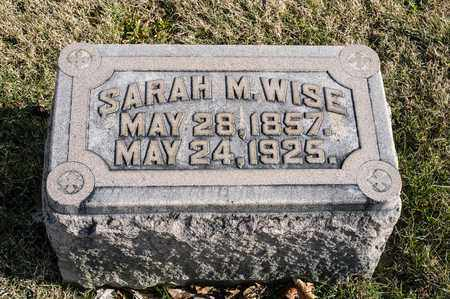 WISE, SARAH M. - Richland County, Ohio | SARAH M. WISE - Ohio Gravestone Photos