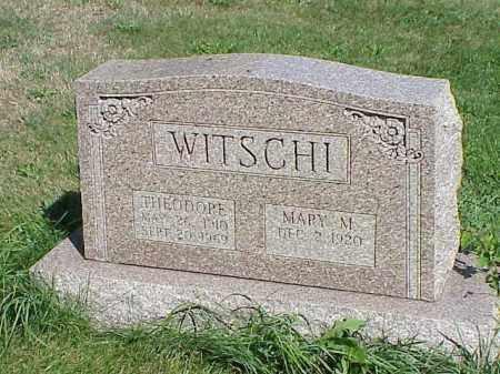 WITSCHI, THEODORE - Richland County, Ohio | THEODORE WITSCHI - Ohio Gravestone Photos