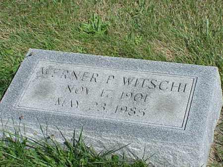 WITSCHI, WERNER P. - Richland County, Ohio | WERNER P. WITSCHI - Ohio Gravestone Photos