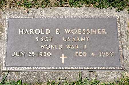 WOESSNER, HAROLD E - Richland County, Ohio | HAROLD E WOESSNER - Ohio Gravestone Photos