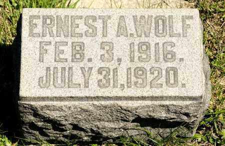 WOLF, ERNEST A - Richland County, Ohio | ERNEST A WOLF - Ohio Gravestone Photos