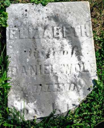 WOLF, ELIZABETH - Richland County, Ohio | ELIZABETH WOLF - Ohio Gravestone Photos
