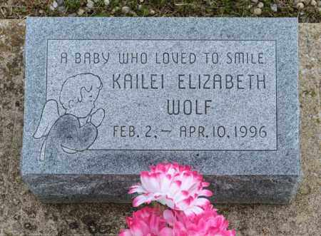 WOLF, KAILEI ELIZABETH - Richland County, Ohio | KAILEI ELIZABETH WOLF - Ohio Gravestone Photos