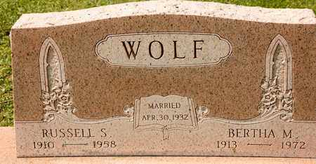 WOLF, RUSSELL S - Richland County, Ohio | RUSSELL S WOLF - Ohio Gravestone Photos