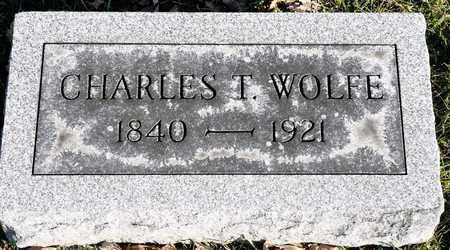 WOLFE, CHARLES T - Richland County, Ohio   CHARLES T WOLFE - Ohio Gravestone Photos