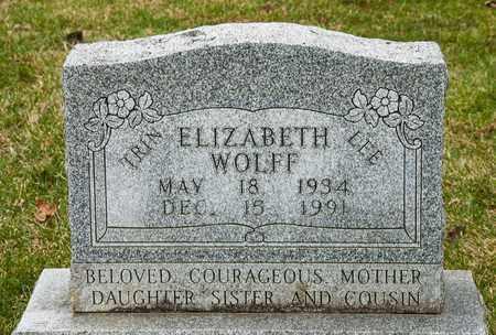 WOLFF, ELIZABETH - Richland County, Ohio   ELIZABETH WOLFF - Ohio Gravestone Photos