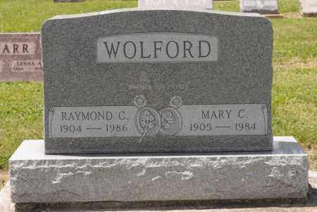 WOLFORD, RAYMOND C - Richland County, Ohio | RAYMOND C WOLFORD - Ohio Gravestone Photos
