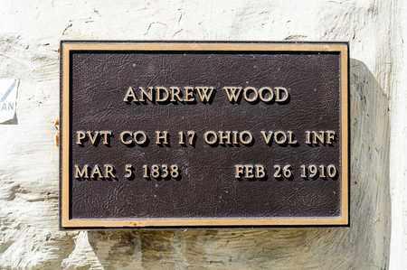 WOOD, ANDREW - Richland County, Ohio | ANDREW WOOD - Ohio Gravestone Photos