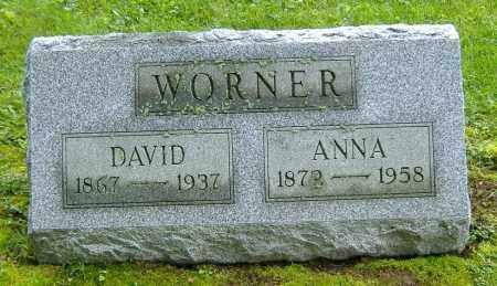 WORNER, DAVID W. - Richland County, Ohio   DAVID W. WORNER - Ohio Gravestone Photos