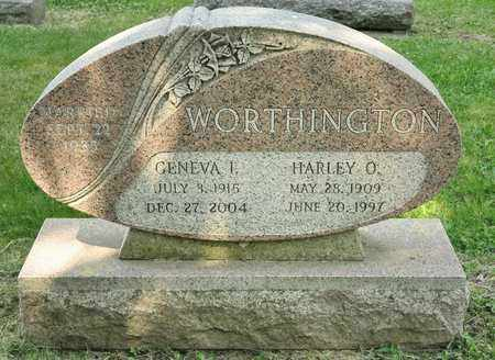 WORTHINGTON, HARLEY O - Richland County, Ohio | HARLEY O WORTHINGTON - Ohio Gravestone Photos