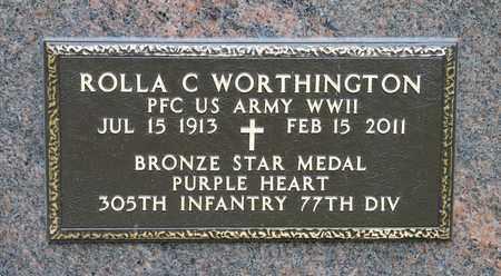 WORTHINGTON, ROLLA C - Richland County, Ohio | ROLLA C WORTHINGTON - Ohio Gravestone Photos