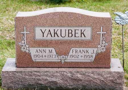 YAKUBEK, FRANK J - Richland County, Ohio   FRANK J YAKUBEK - Ohio Gravestone Photos