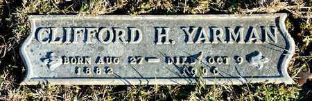 YARMAN, CLIFFORD H - Richland County, Ohio | CLIFFORD H YARMAN - Ohio Gravestone Photos
