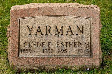 YARMAN, CLYDE E - Richland County, Ohio | CLYDE E YARMAN - Ohio Gravestone Photos