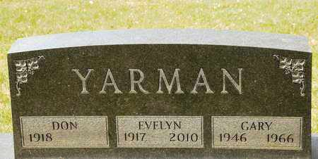 YARMAN, EVELYN - Richland County, Ohio | EVELYN YARMAN - Ohio Gravestone Photos