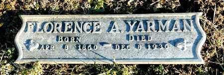 YARMAN, FLORENCE A - Richland County, Ohio | FLORENCE A YARMAN - Ohio Gravestone Photos