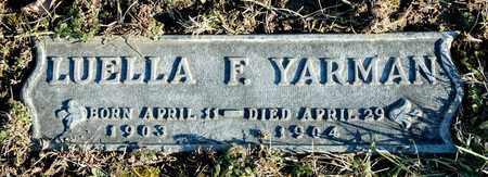 YARMAN, LUELLA F - Richland County, Ohio | LUELLA F YARMAN - Ohio Gravestone Photos