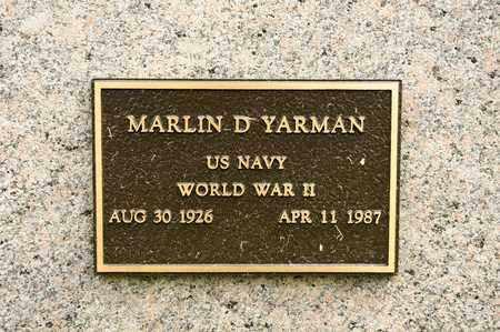 YARMAN, MARLIN D - Richland County, Ohio | MARLIN D YARMAN - Ohio Gravestone Photos