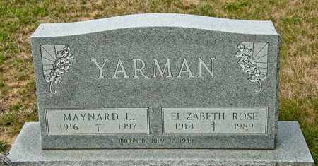 YARMAN, ELIZABETH ROSE - Richland County, Ohio | ELIZABETH ROSE YARMAN - Ohio Gravestone Photos