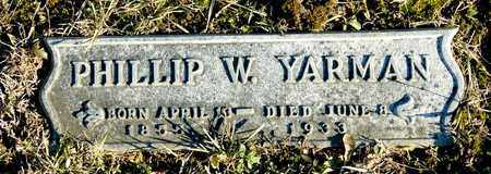 YARMAN, PHILLIP W - Richland County, Ohio | PHILLIP W YARMAN - Ohio Gravestone Photos