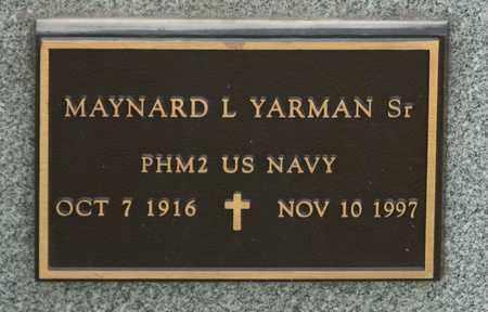 YARMAN SR, MAYNARD L - Richland County, Ohio | MAYNARD L YARMAN SR - Ohio Gravestone Photos