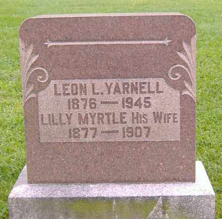 YARNELL, LILLY MYRTLE - Richland County, Ohio | LILLY MYRTLE YARNELL - Ohio Gravestone Photos