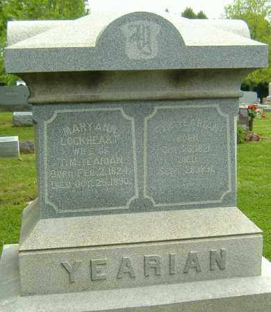 YEARIMAN, THOMAS M. - Richland County, Ohio | THOMAS M. YEARIMAN - Ohio Gravestone Photos