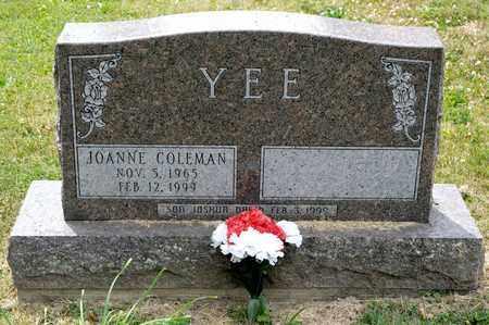 YEE, JOANNE - Richland County, Ohio | JOANNE YEE - Ohio Gravestone Photos