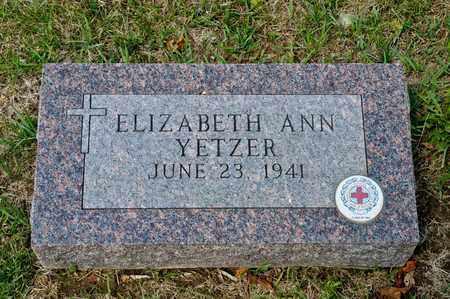 YETZER, ELIZABETH ANN - Richland County, Ohio   ELIZABETH ANN YETZER - Ohio Gravestone Photos